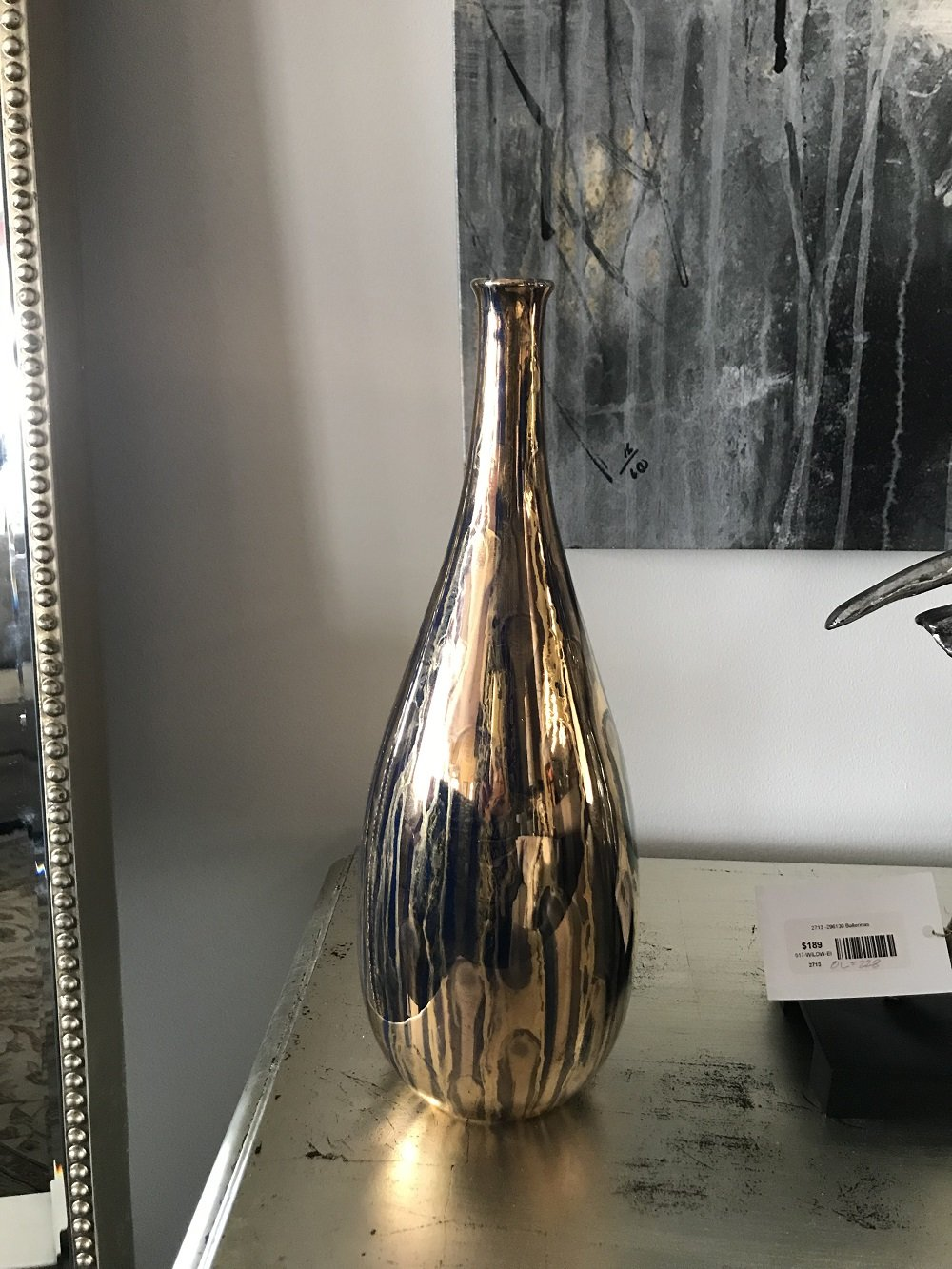 Artis furniture amber glass vase italian finger vase floridaeventfo Image collections